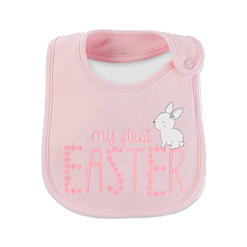Easter Bib (Just One You By Carters Baby Girls My First Easter Bib Burp Cloth Pink)
