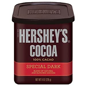 HERSHEY'S SPECIAL DARK Cocoa (8-Ounce Cans, Pack of 6)