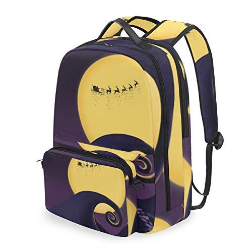 Nightmare Halloween Before Christmas 15 Inch Travel Laptop Backpack College School Computer Bags Cross Bag ()