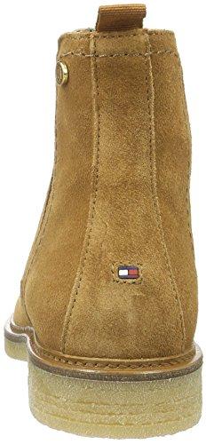 906 Mujer Tommy 6b B1285eritt Casa Braun para Hilfiger de Zapatillas WINTER Marrón Estar COGNAC por qAgw6