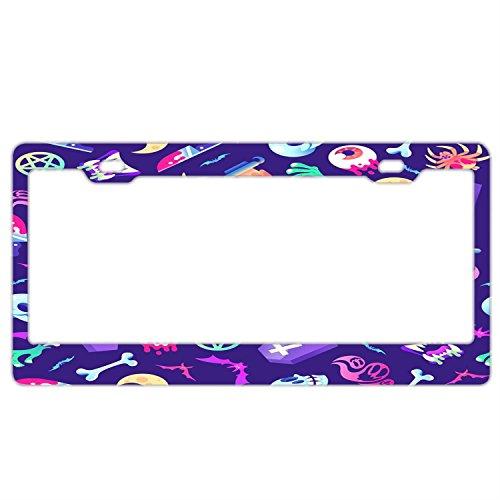 icense Plate Holder - Stainless Steel Metal License Plate Frame For Women,License Plate Frames Humor ()
