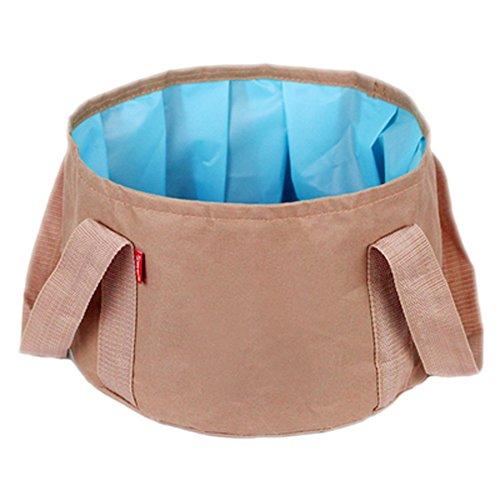 Outdoor Travel Travel Portable Essential Supplies Equipment Artifact Travel Wash Cosmetic Bag Folding Washbasin (Light Brown, 3120CM/12.27.8