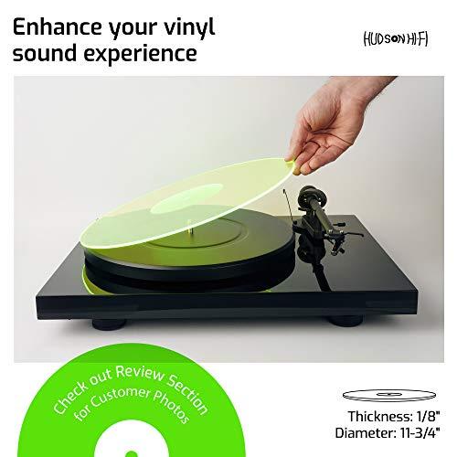 Acrylic Turntable Mat - GreenLit - LP Slipmat