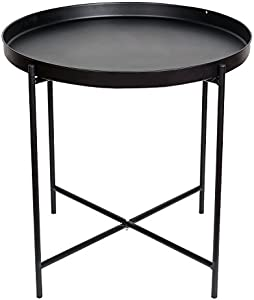 Free HollyHOME Metal Folding Tray End Table