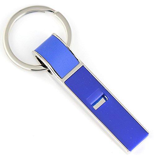 Maycom® Creative Fashion Blue Whistle Sound Keychain Key Chain Ring Keyring Keyfob