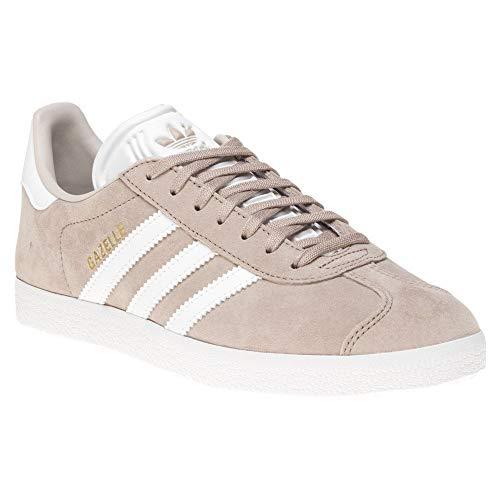 adidas Gazelle W Womens Trainers Beige White - 6 UK ()