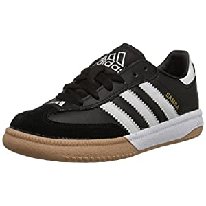 adidas Performance Kids' Samba M K Indoor Soccer Cleat (Little Kid/Big Kid),Black/White,4.5 M US Big Kid