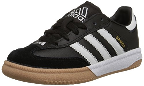 Price comparison product image adidas Performance Kids' Samba M K Indoor Soccer Cleat (Little Kid/Big Kid),Black/White,4 M US Big Kid