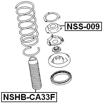Front For Nissan Shock Absorber Boot Febest 540502Y001