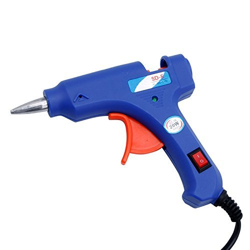 20W 110-240V Mini Electric Heating Hot Melt Glue Gun US outlet for fusion hair extensions Tool & 10 Pcs 7mm Glue - Outlet Hair E