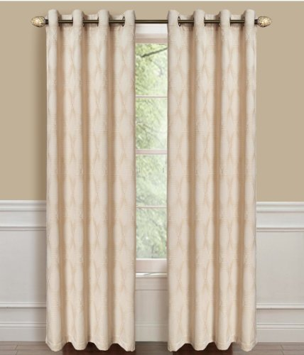 Dainty Home Armada Grommet Window Panel, 53 by 84-Inch, Gold For Sale