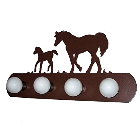 Horse colt western vanity light rust finish southwestern horse colt western vanity light rust finish southwestern fixtures aloadofball Image collections