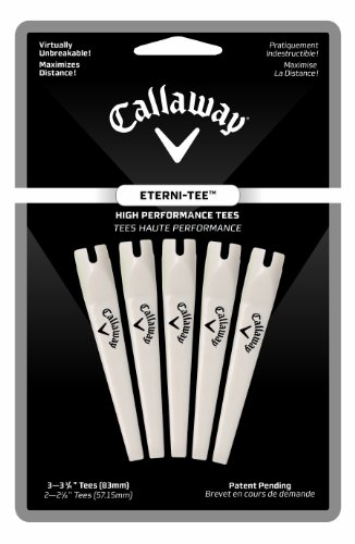 Callaway Eterni-Tees - 5 Count Large, 3 1/4-Inch (White)