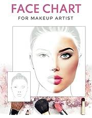 FACE CHART for makeup artist: Professional Makeup Artist Practice Workbook