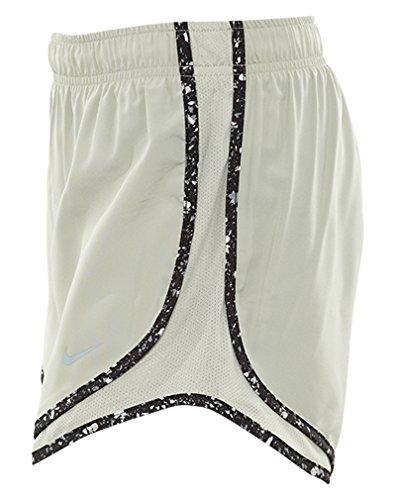 Nike Kvinna Fukttransporterande Colorblock Shorts Blek Grå / Svart / Wolf Grå
