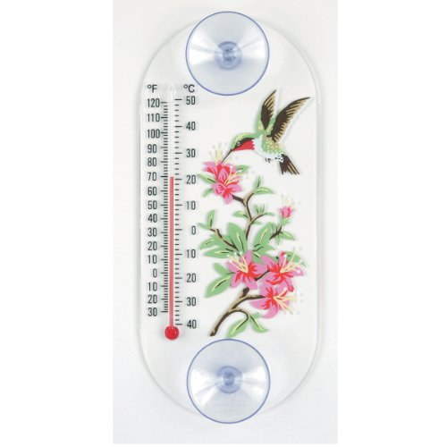 Aspects 192 Hummingbird in Azalea Window Thermometer (Thermometer Window)