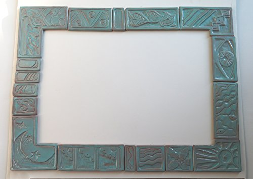 Handmade ceramic terracotta tile surround 16 x 20