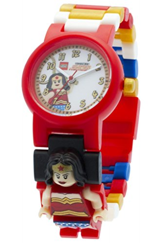 LEGO Kids' 8020271 DC Universe Super Heroes Wonder Woman Minifigure Link Watch