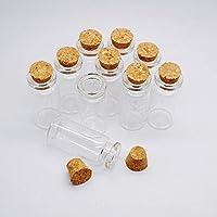 10 unids 10 ml frascos de vidrio claro botellas con corchos fuertes lindos frascos de muestra vacía Ideal para mensaje de boda del partido favorece decoraciones