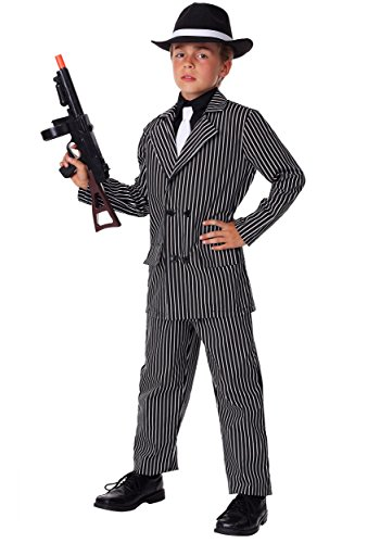 Big Boys' Deluxe Gangster Costume -