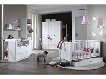 babyzimmer kinderzimmer schrank wickelkommode bett filou 8-teilig ... - Kinderzimmer Baby