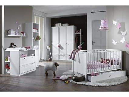 Babyzimmer Kinderzimmer Schrank Wickelkommode Bett Filou 8-teilig ...
