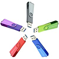 Thumb Drive 3.0, 5 Bulk 16GB USB Flash Drive Pen Drive Memory Stick (5 Pack)