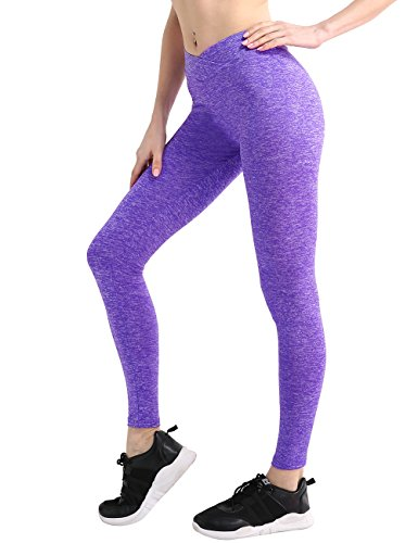 NORMOV Women Workout Leggings High Waist Sports Legging Casual Stretch Leggings for Women