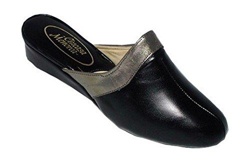40 Womens Menorca Slip Textile on Slippers Size Cincasa Lined Black Xqz47Zw