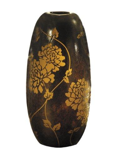 Dale Tiffany PG80178 Preston Oval Decorative Vase, 6-Inch by 11-3/4-Inch