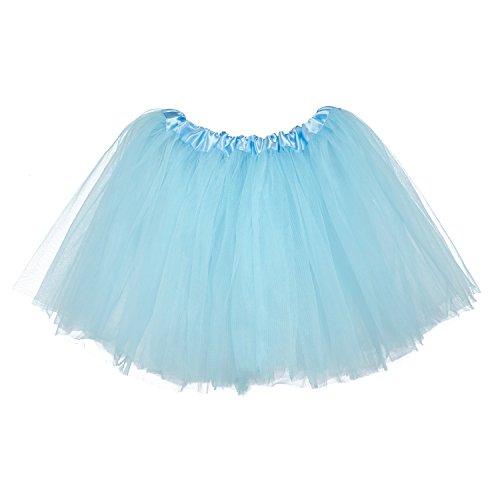 My Lello Little Girls Tutu 3-Layer Ballerina Light Blue (10 mo - -