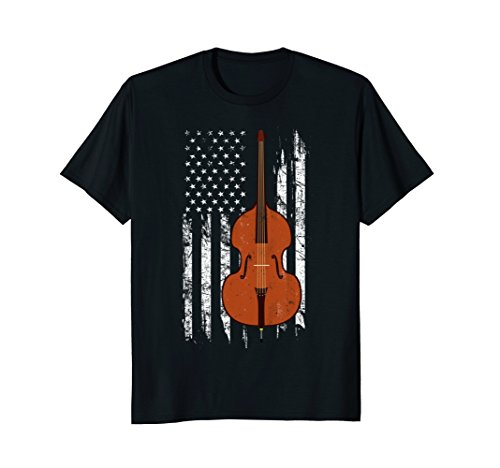 Vintage Double Bass Shirt - American US Flag (Bass Vintage Double Bass)