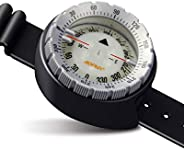 AOFAR Dive Compass AF-Q60 Waterproof, Durable, Compact. Wrist Strap Type Compass for Sailing, Diving, 11.8in S