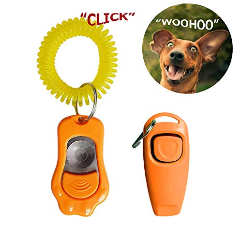 Vetoo Clicker Whistle for Dogs Cats Training, Happy Teaching Command Reply Reward Tool, Stop Barking Sitting Handshake…