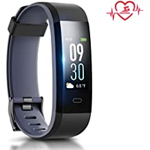 Coffea Activity Tracker, Sport Fitness Tracker Watch, Color Screen Pedometer Waterproof Smart Bracelet with Anti-lost Strap for Android and iOS