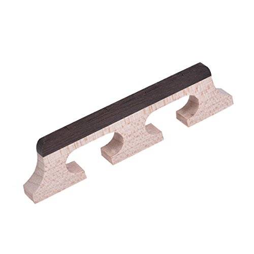Maple Strings (Kmise Banjo Bridge for 4 String Banjo Guitar Parts Replacement Rosewood and Maple Wood 1 Pcs)