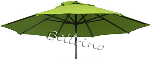 BELLRINO Decor Replacement SAGE Green Strong and Thick Umbrella Canopy for 9ft 8 Ribs SAGE Green Canopy Only
