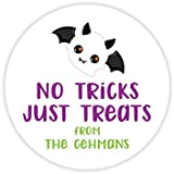 Personalized Halloween Party Stickers Halloween Decor Printable Party Circles Printable Halloween Decor Stickers Trick Or Treat