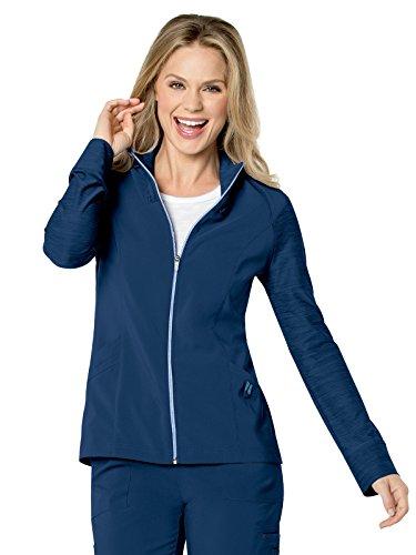 Performance Jacket (Urbane Performance Women's Quickcool Zip Front Solid Scrub Jacket Medium Navy)