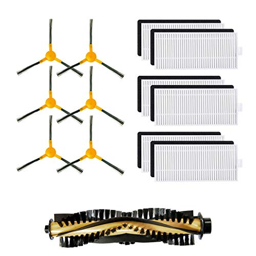 Replacement Accessories Parts for Tesvor X500 Robotic Vacuum Cleaner - Filters, Side Brushes, Rolling Brush (Pack of - Brush Physical