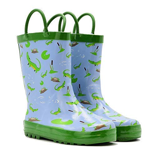 Mucky Wear Children's Rubber Rain Boot, Crocodile, 5T US Toddler