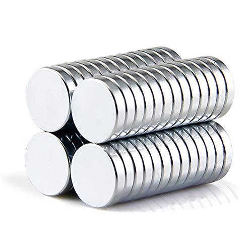 Refrigerator Magnets,50PCS Premium Brushed Nickel Fridge Magnets,Round Magnets