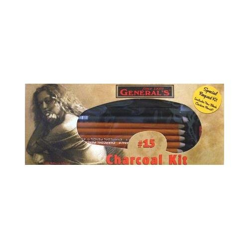 General Pencil Charcoal Kit, 12-Piece