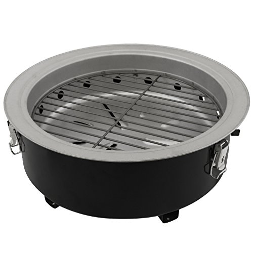 Dyna-Glo DGX376BCS-D  Compact Charcoal Bullet Smoker - High Gloss Black by Dyna-Glo (Image #7)