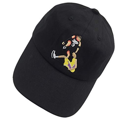 Answer Step Over Dad Hat Men's Baseball Cap Embroidered Adjustable Strapback Black