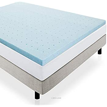 lucid 2 inch gel infused high density ventilated memory foam mattress topper 3. Black Bedroom Furniture Sets. Home Design Ideas