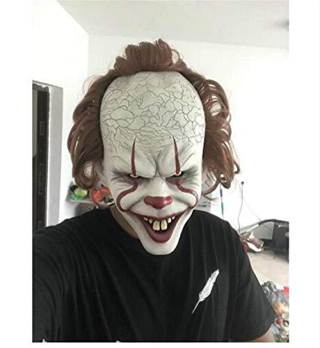 (Yichener Stephen King's It Mask Pennywise Horror Clown Joker Mask Clown Mask Halloween Cosplay Costume)