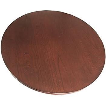21 inches diameter dark brown wood rotating turntable lazy susan 360 swivel