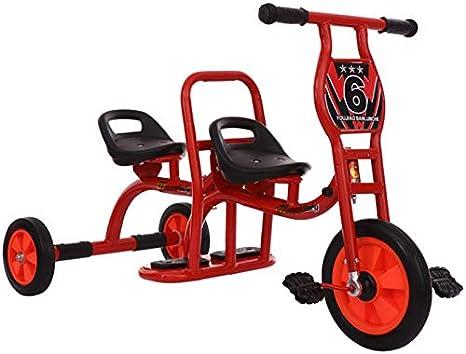 MAGO Nueva correa de Kinder doble pedal de la bicicleta triciclo de niños deportes al aire libre Juguetes (Color : Yellow): Amazon.es: Bebé