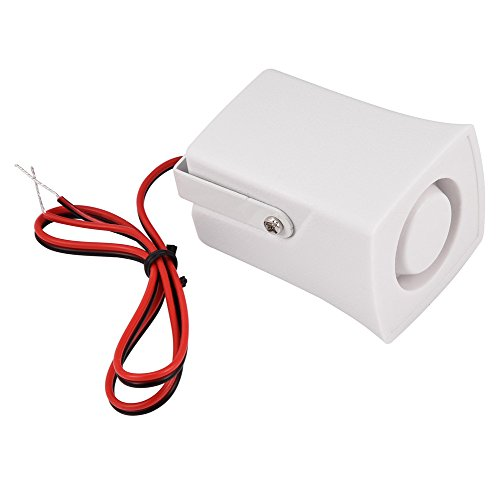 Zerone Mini Wired Siren Horn, Ear Piercing Indoor Siren Wired Mini Horn Alarm 120dB DC 12V Home Security Sound Alarm System